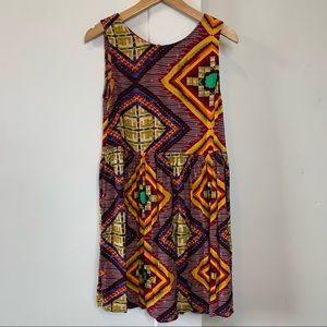 Mink Pink boho Aztec Print Mini dress